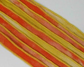KAS Hand Painted Dyed Silk Ribbons HONEY MAPLE