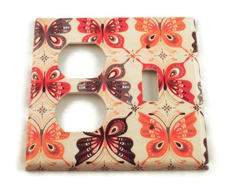 Butterfly Switch Plate Wall Decor Light Switch Cover Combo Light Switchplate  in  Mariposa (805C)