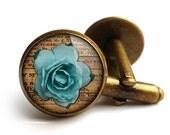 Blue Rose Cufflinks (RR02)