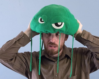 Jellyfish Hat Plush Fleece - Green