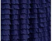 Ruffle Crib Skirt, Navy Blue Dust Ruffle, Made to Order