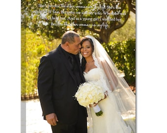 Gift for Dad Son Daughter Canvas photo gift Art  with Gift for mom dad 12x16