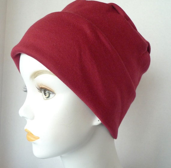 cool weather soft rolled cuff cancer chemo hat cap cotton