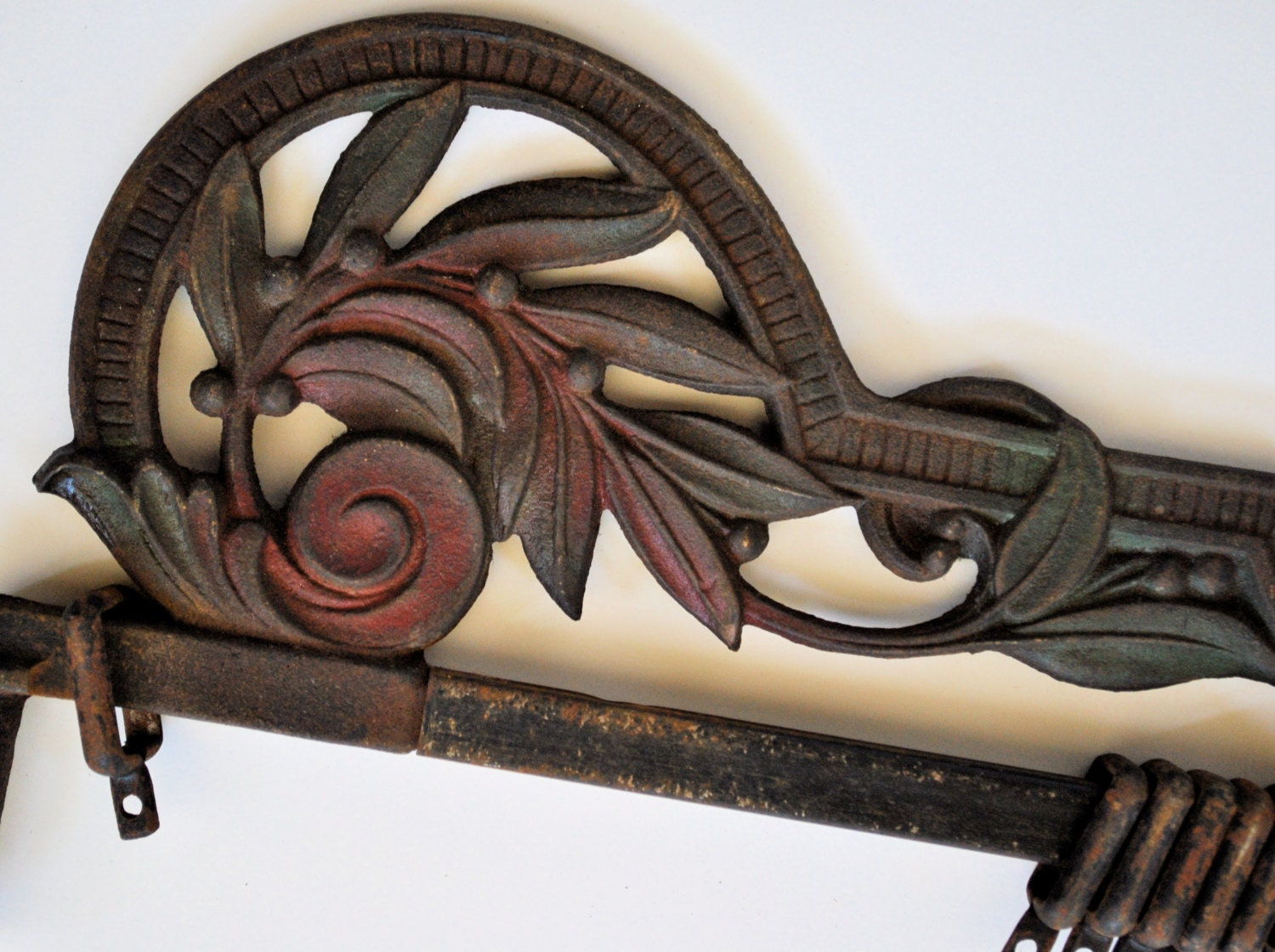 cast iron curtain rods swing arm extendable by