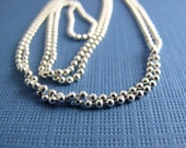 jewelry making supply 24 inches of sterling silver 1.5mm diamond cut bead ball chain