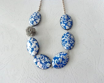 blue and silver necklace