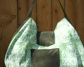 Green Spring Beauty Le Croissant Sac Collection Hobo Style Large Shoulder Bag