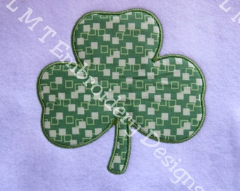 Shamrock  Applique  Embroidery Designs - 2 Sizes