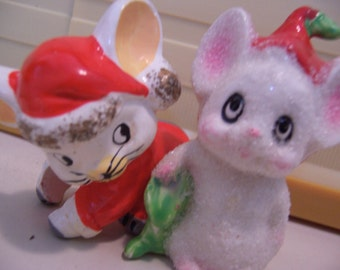 two little christmas mice