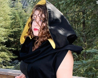 Choose any Colors Reversible Over Sized Medieval Hoodie Scarf by LoriAnn Costume Designs