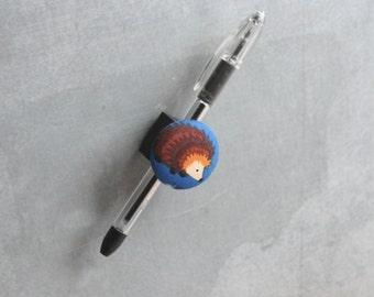 Magnetic Pen, Pencil, or Chalk Holder - Limited Design - Hedgehog