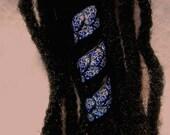 Dreadlock Bead  Midnight Blue  Leaf Coil You Choose Hole Size