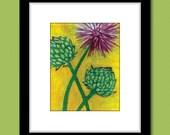 Artichoke Blossom Modern Kitchen Vegetable Art Print