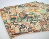 "Mailing Envelopes - Safari Animals - 9"" x 12"" - x4 - Set 1"
