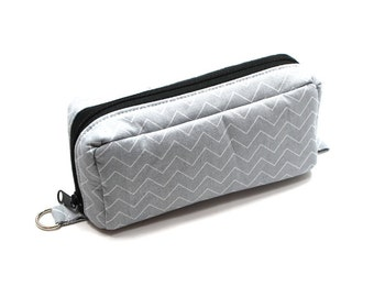 Essential Oil Case Holds 10 Bottles Essential Oil Bag Gray and White Chevron