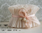 Crepe Paper Ruffles Vintage Almond Cream - 34 Inches Pastel Easter Basket Ruffle Trim - Wedding Garland