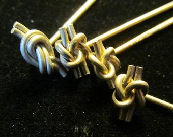 4 Vintage French Knot Sterling Silver Sticks Pin AF 71