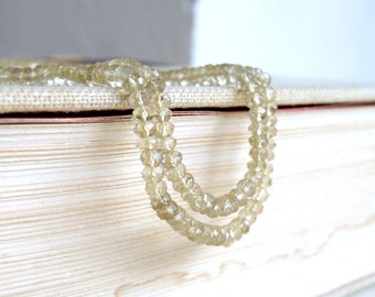 Lemon Quartz Gemstone  Faceted Rondelle 4mm 1/2 strand 60 beads Wholesale