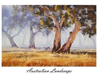 Painting print wall art prints from my Original Oil Painting Australian Art Landscape
