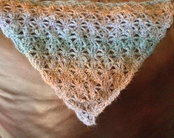 Lacy Triangle Crochet Shawl Pattern