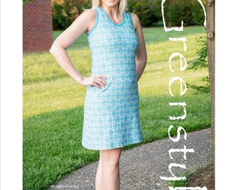 Lille Racerback Tank and Dress Sizes XXS to 3XL - Instant Download