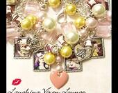 Vinatage Couples - Love Jewelry - Valentine Jewelry - Vintage Kiss Charm Bracelet - Valentine Bracelet - Love Bracelet - Vintage Women