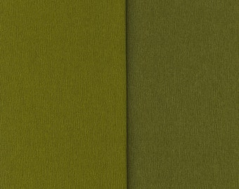 Gloria Doublette Double Sided Crepe Paper For Flower Making Made In Germany Olive And Moss Green  #3343