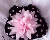 Black, Pink & Silver Embellished Bangle Purse