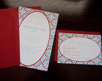 Florentine Tile Sample Wedding Invitation