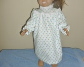 Petite Rosebud Flannel Nightgown for American Girl also fits Bitty Baby