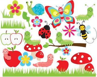 Caterpillar clipart – Etsy