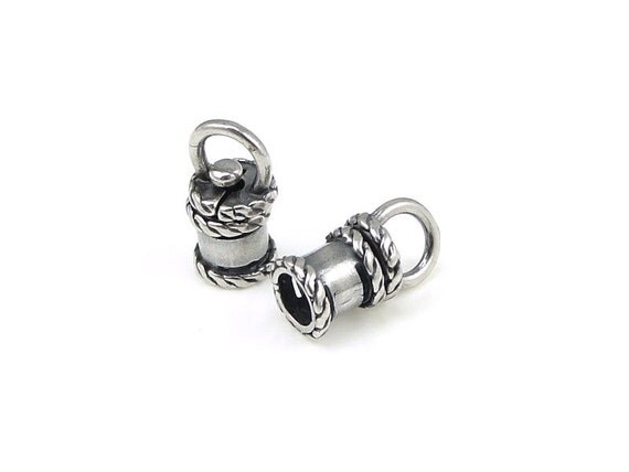 Swivel cord caps id mm antique silver end