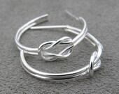 Silver Knot Hoop Earring