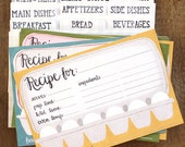 Eggs Recipe Cards Set of 54 with Dividers