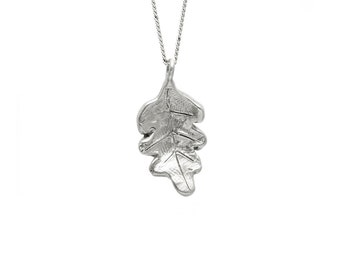 Oak Leaf Necklace 3D Small