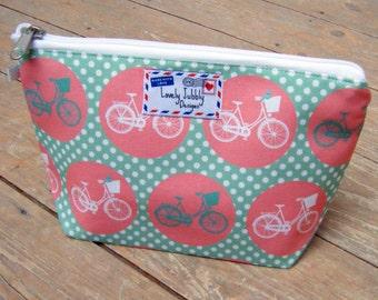Bicycle Spot Cycling Pink Bike Cosmetic Makeup Toiletry Wash Bag