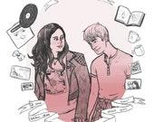 Rae and Finn print