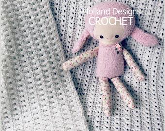 Download Now - CROCHET PATTERN Sweet Innocence Baby Blanket - Pattern PDF