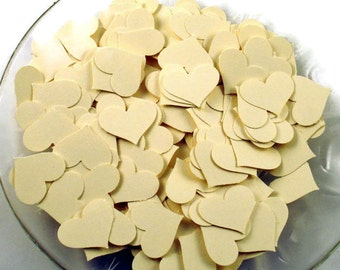 Funfetti Paper Confetti  Die Cut  Hearts in Sweet Cream
