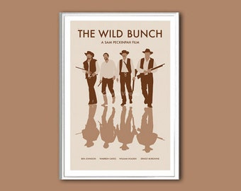 Movie poster The Wild Bunch print in various sizes