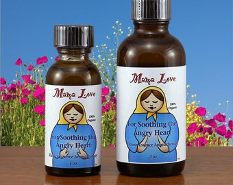 Soothing Anger, Happy Skin, Organic Reiki-Infused Flower Essence Aromatherapy, Body, Bath, Massage, Stress Reduction