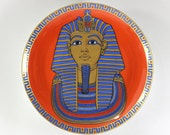 1960s King Tut Plate by Kaiser of West Germany Vintage Egyptian
