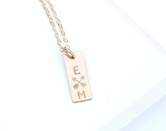 Crossed Arrows Necklace, Friendship Necklace, Sisters Necklace, Love, Personalized Necklace, Crossed Arrow Necklace