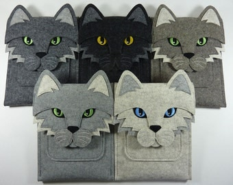 Cat iPad Air / 2 / 3 / 4 felt case