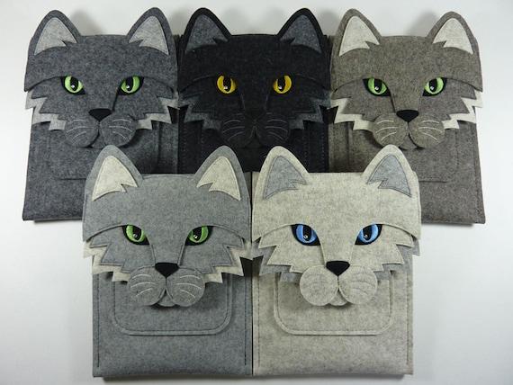 Cat iPad Air / 2 / 3 / 4 felt case