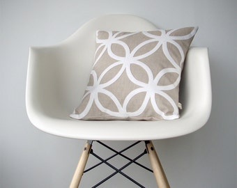 Geometric DECORATIVE PILLOW COVER Mod Home Decor by JillianReneDecor | Modern Luxury | Gift for Her | Off White