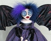 RESERVED For Christophe - Madame Violette - Vampire Bat Gothic Art Doll