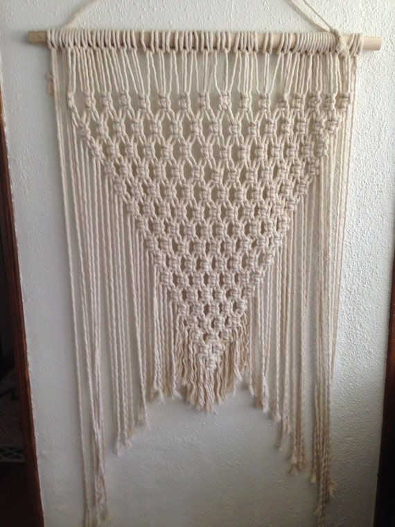 macram corde textile mural tisser suspendu art. Black Bedroom Furniture Sets. Home Design Ideas