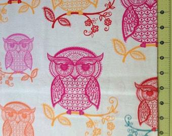 Owl Outlines Fabric By The Yard
