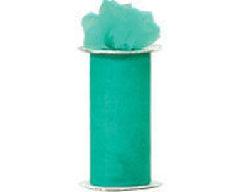 """108"""" x 50 yd  Bolt of Top Quality Made In The USA Tulle Bolt -TEAL"""